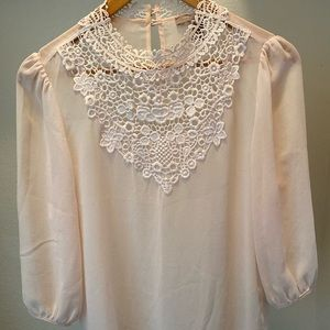 Light Pink Lace Blouse by Forever21 | Contemporary